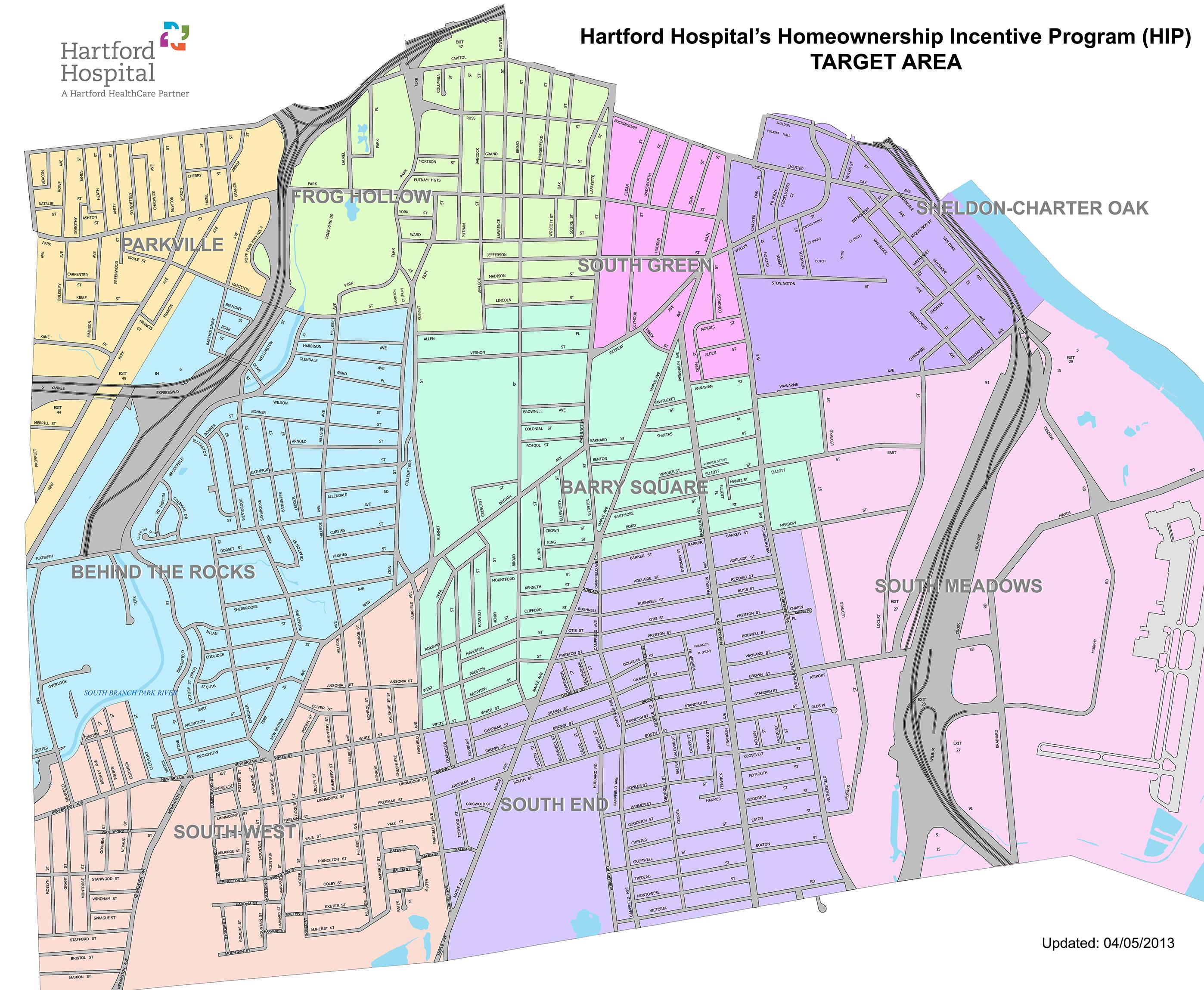 Hartford Hospital Campus Map.Homeownership Incentive Program Hip Sina