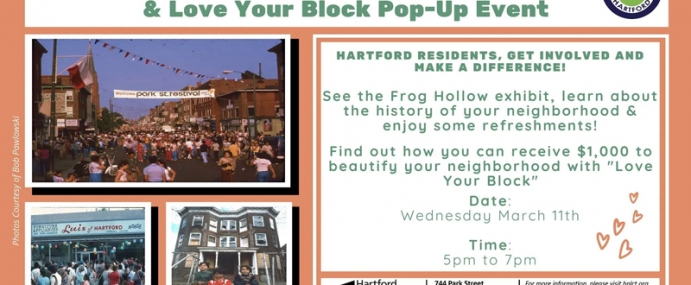 Frog Hollow Neighborhood Exhibit & Love Your Block Pop-Up Event